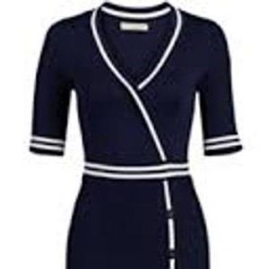 Navy Blue Sweater Dress - Eva Mendes Collection
